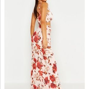 Floral Maxi Skirt And Bralet